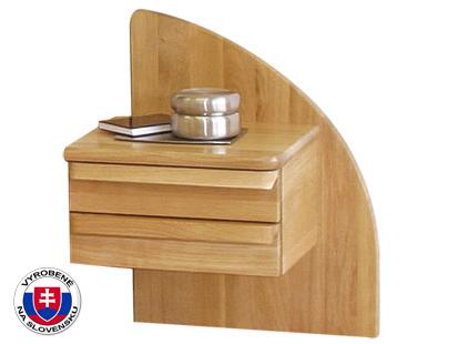 Nočný stolík z masívu - Styler - Petra - pravý